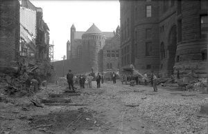 Courthouse area construction 1912