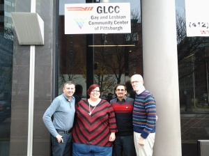 Current and former chairs gather at the GLCC