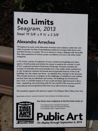 Description of the No Limits Pittsburgh Cultural Trust exhibit.