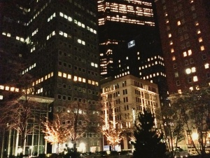 downtown pittsburgh from mellon square