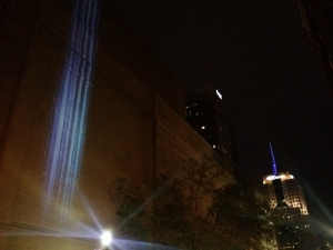 I took this the first night of the Pittsburgh public art exhibit called Particle Falls.