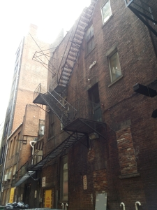 Pittsburgh has many old fire escapes