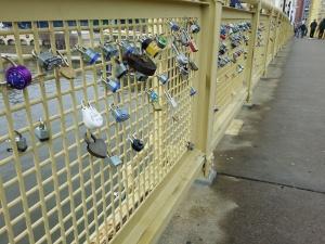 Love locks...I LOVE this idea