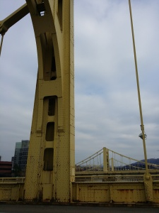 Pittsburgh is the only city in the world with three similar bridges that are back to back to back
