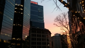 downtown pittsburgh sunset 1